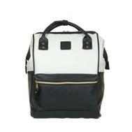 Рюкзак Anello Black White кожаный малый, фото 1
