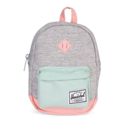 Рюкзак HERSCHEL HERITAGE MINI Light Grey Crosshatch/Yucca/Peach Rubber, фото 1