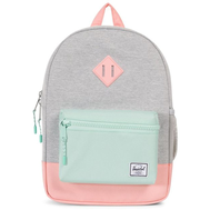Рюкзак HERSCHEL HERITAGE YOUTH Light Grey Crosshatch/Yucca/Peach Rubber, фото 1