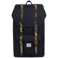 Рюкзак HERSCHEL Little America Black/Woodland Camo Rubber, фото 1
