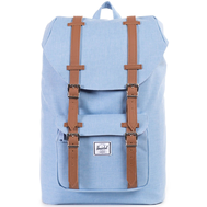 Рюкзак HERSCHEL Little America Mid-Volume CHAMBRAY CROSSHATCH/TAN SYNTHETIC LEATHER, фото 1