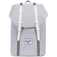 Рюкзак HERSCHEL RETREAT LIGHT GREY CROSSHATCH/WHITE RUBBER/BLUEPRINT STRIP, фото 1