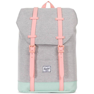 Рюкзак HERSCHEL RETREAT YOUTH Light Grey Crosshatch/Yucca/Peach Rubber, фото 1