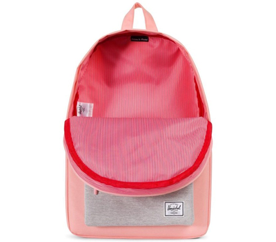 Рюкзак HERSCHEL Classic Mid-Volume Peach/Light Grey Crosshatch, фото 3