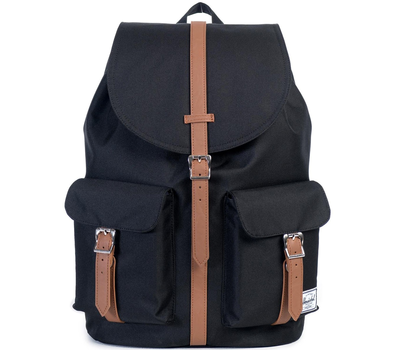 Рюкзак HERSCHEL DAWSON Black/Tan Synthetic Leather, фото 1