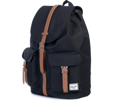 Рюкзак HERSCHEL DAWSON Black/Tan Synthetic Leather, фото 2