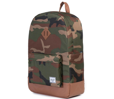 Рюкзак HERSCHEL HERITAGE WOODLAND CAMO/TAN SYNTHETIC LEATHER, фото 2