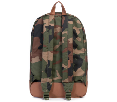 Рюкзак HERSCHEL HERITAGE WOODLAND CAMO/TAN SYNTHETIC LEATHER, фото 4