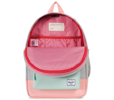 Рюкзак HERSCHEL HERITAGE YOUTH Light Grey Crosshatch/Yucca/Peach Rubber, фото 3