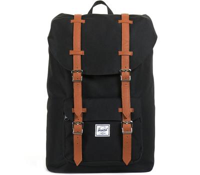 Рюкзак HERSCHEL LITTLE AMERICA Black/Tan Synthetic Leather, фото 1
