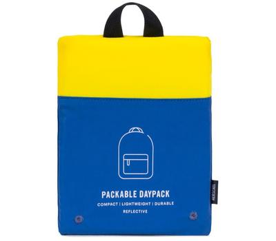 Рюкзак HERSCHEL PACKABLE DAYPACK Neon Yellow Reflective/Peacoat Reflective, фото 3